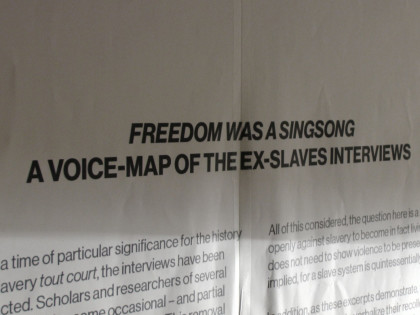 Freedom was a singsong. A Voice-Map of the ex-slaves interviews